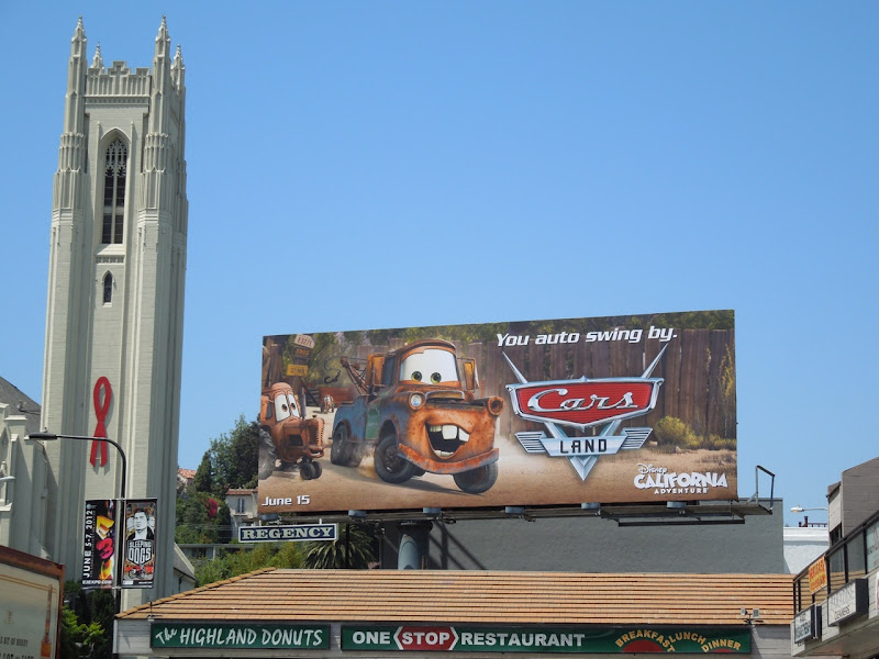 Cars Land Mater billboard