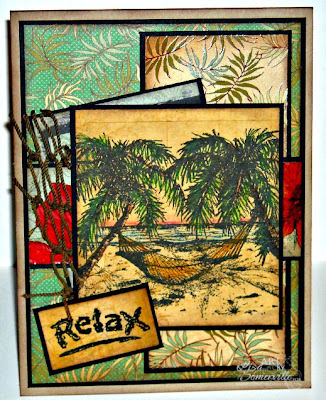 Stamps - Our Daily Bread Designs Happy Retirement.  PP - Kaisercraft Tropicana Collection