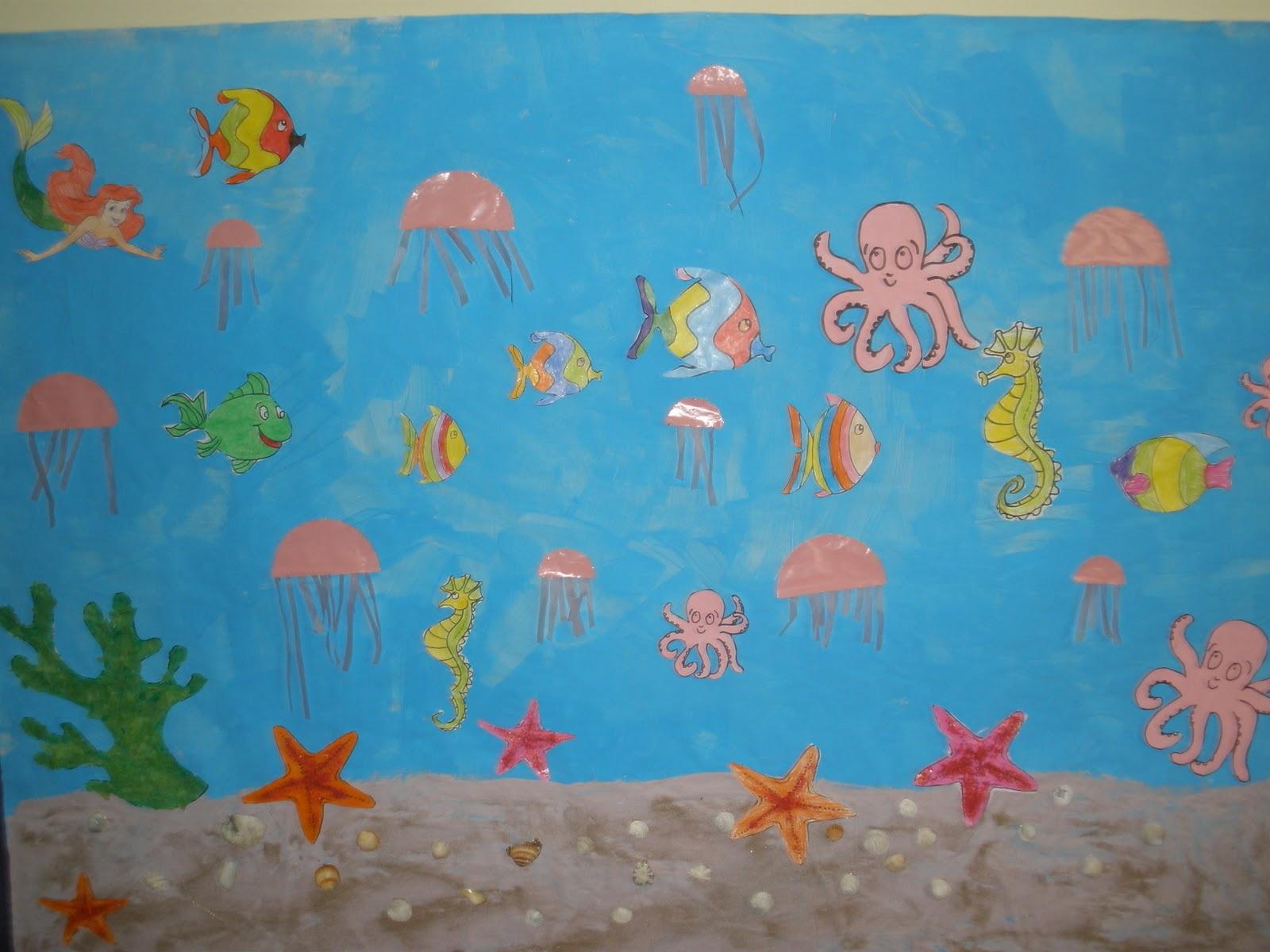 Mis queridos peques el fondo del mar for Un mural facil de hacer
