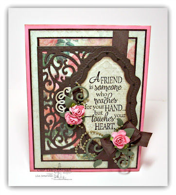 Our Daily Bread Designs, Vintage Flourish Pattern die, Quote Collection 4,Chalkboard Lattice Background Stamp