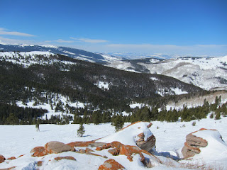Overlooking Earl's Bowl from In The Wuides on Blue Sky Basin.