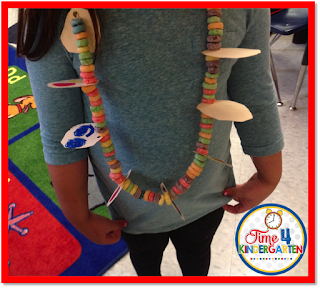 100th Day of school necklace,Time4Kindergarten