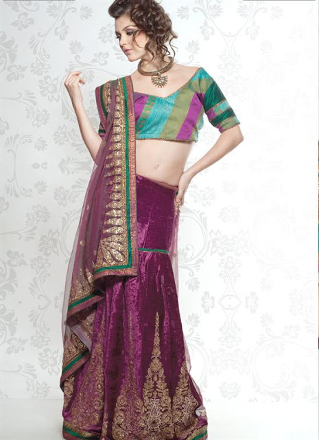 Fashionable Silk Saree Lehnga