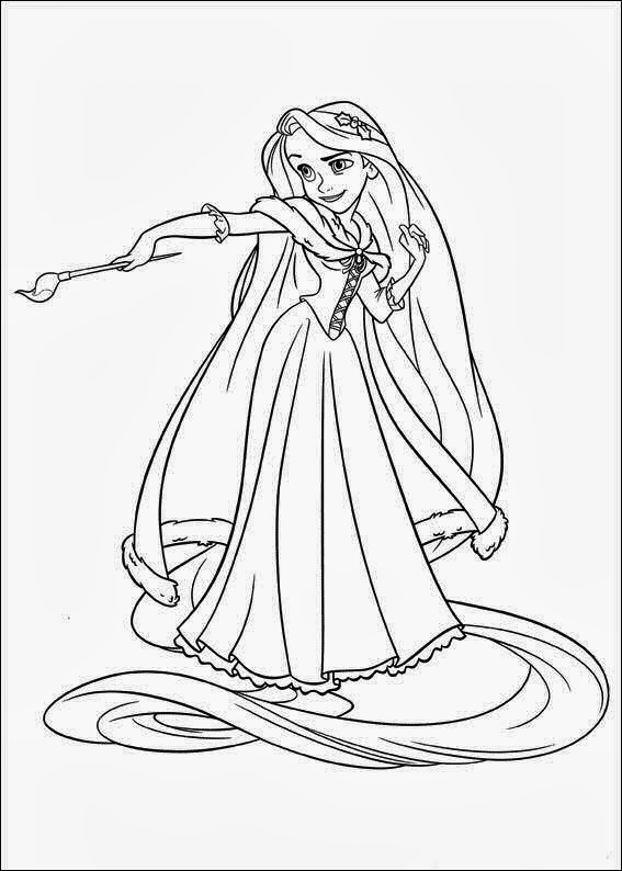 tangled poster coloring pages - photo#33