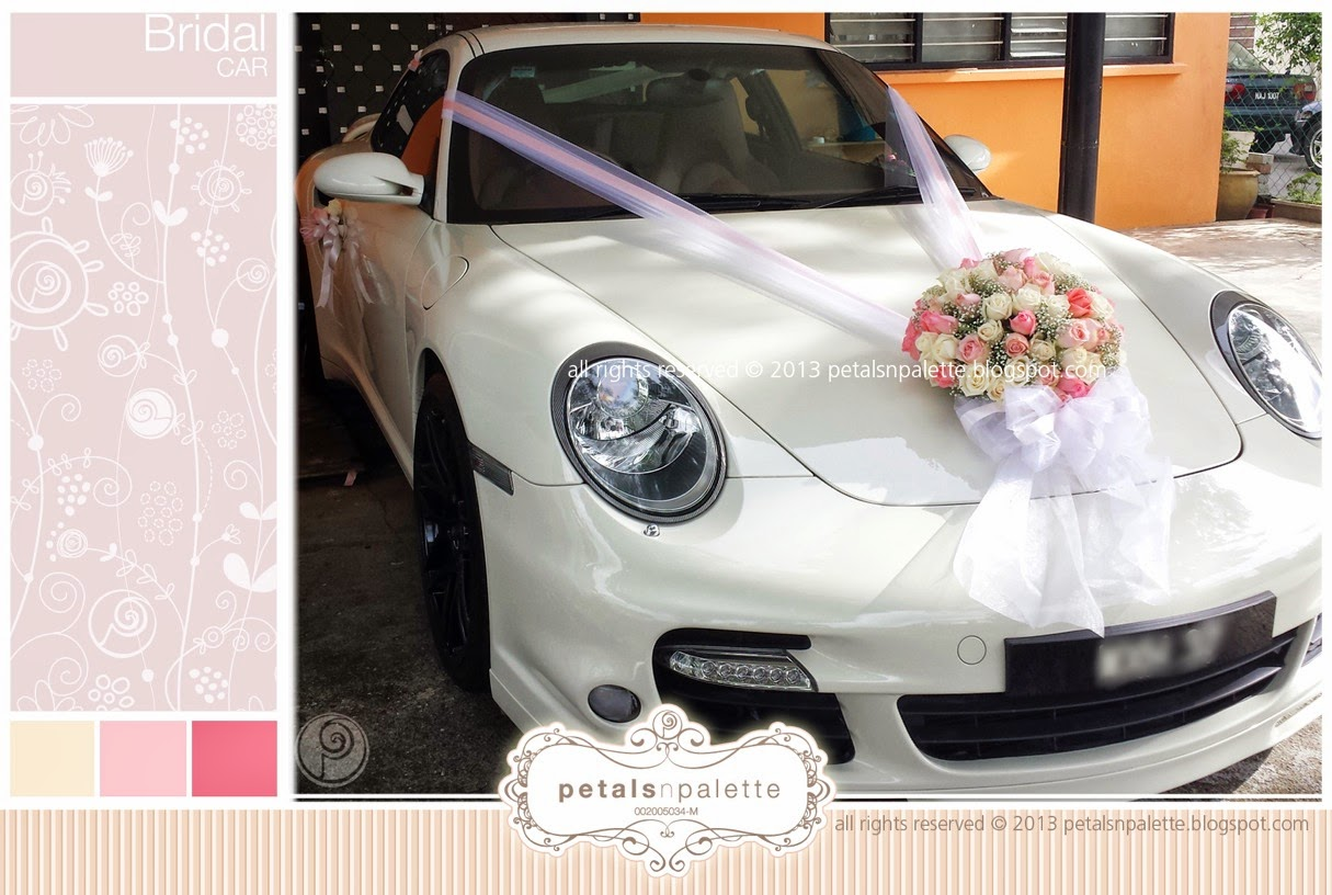 Bridal car wedding decoration malaysia floral design event styling bridal car junglespirit Image collections