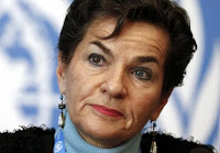 Christiana Figueres, Executive Secretary of the United Nations Framework Convention on Climate Change (UNFCCC), listens during a news conference after a week long preparatory meeting at the U.N. in Geneva February 13, 2015. (Credit: Reuters/Denis Balibouse) Click to Enlarge.