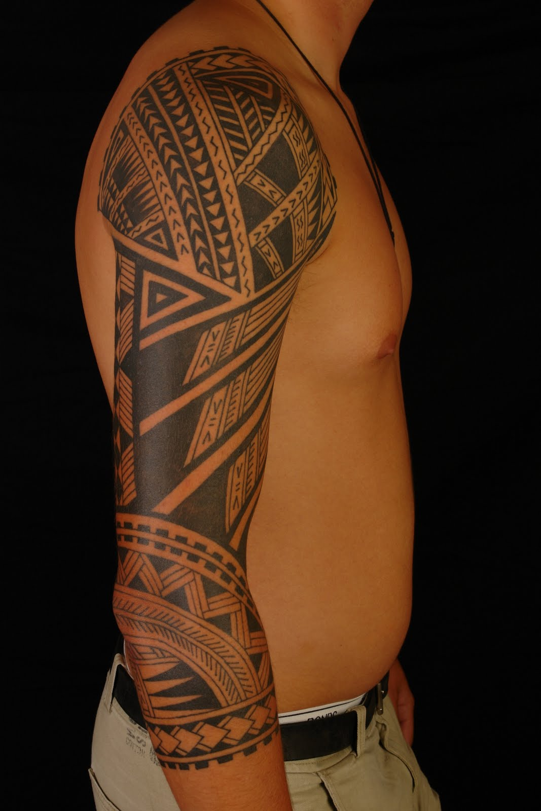 shane tattoos polynesian 3 4 sleeve. Black Bedroom Furniture Sets. Home Design Ideas