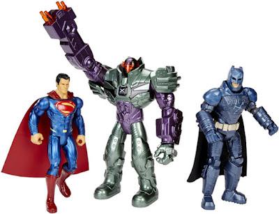 TOYS : JUGUETES - BATMAN V SUPERMAN  El Amanecer de la Justicia : Dawn of Justice  Pack 3 Figuras : Mega Armored Lex Luthor | Muñecos  Producto Oficial Película 2016 | Mattel DHY28 | A partir de 3 años  Comprar en Amazon España & buy Amazon USA