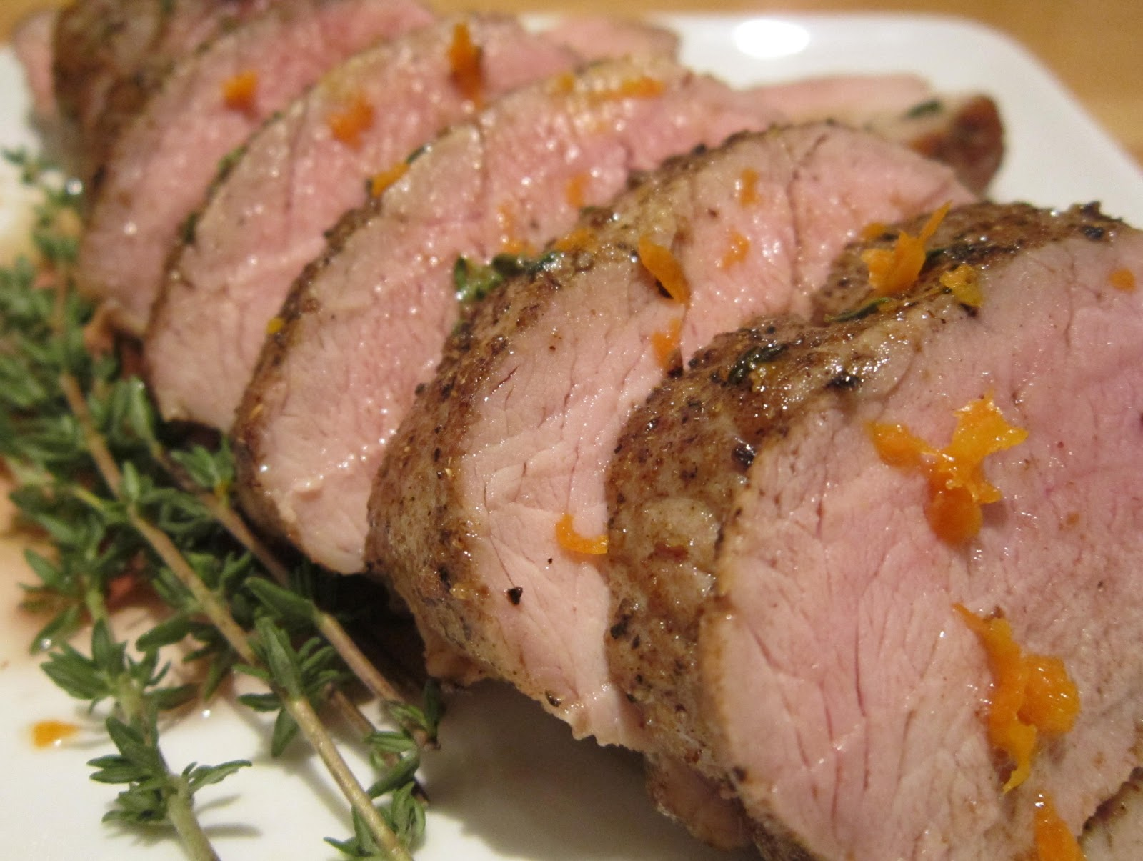 Pan Roasted Pork Tenderloin With Garlic Coriander And Thyme