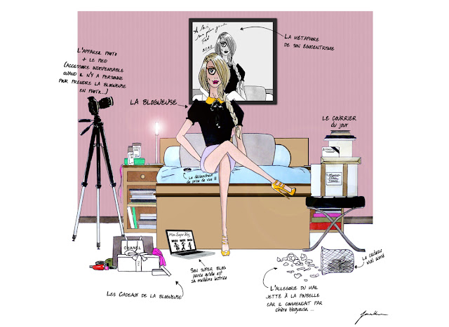 caricature blogueuse