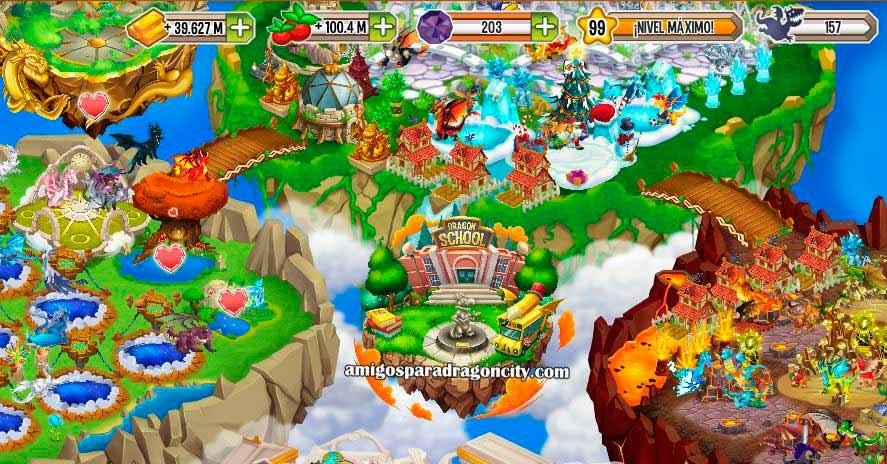 imagen del evento especial de la isla escuela de dragon city de facebook