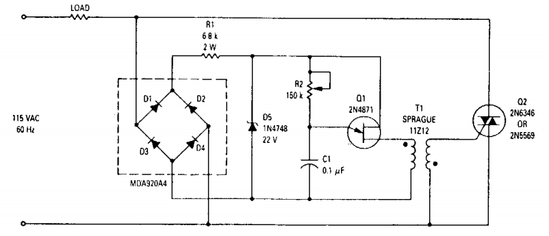 Dimmer Circuit Diagram