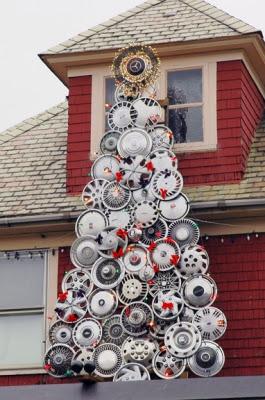 Christmas unusual tree decorations rare photo
