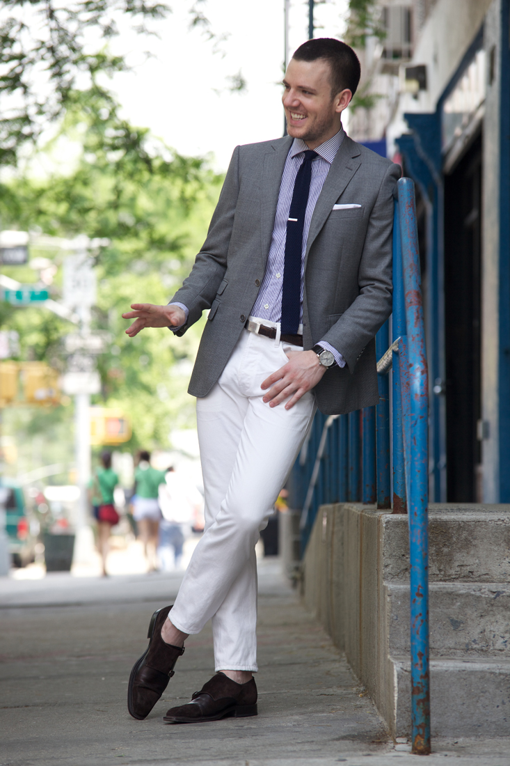 A Stylish Man: Men White Pants