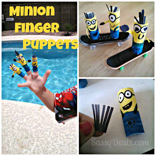 despicable me minion finger puppets craft ideas
