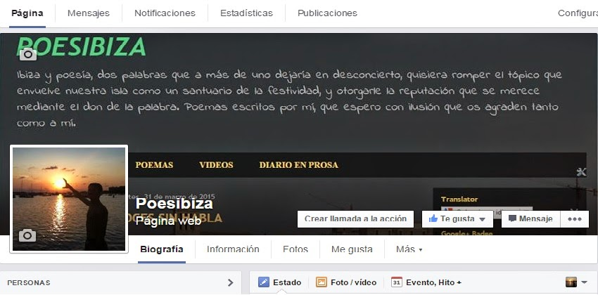 Página oficial del blog en Facebook