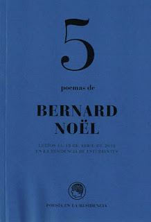 Tres poetas franceses del siglo XXI: Bernard Noël, Zéno Bianu, Jean