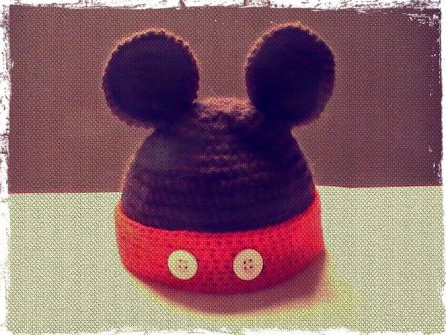 Gorro de Mickey a crochet para bebes de 0 a 3 meses - Margarita Knitting