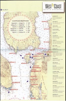 Map of Whale Channel Fishing Spots