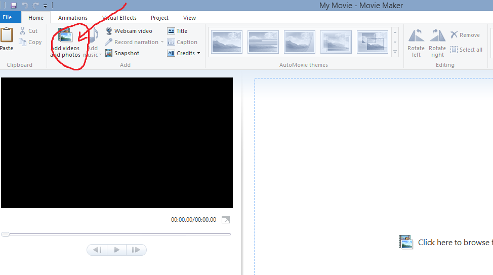 How to rotate video step by step go to startprogramsmovie maker or search for movie maker if your using windows 8 2 in your movie maker click add video or photos ccuart Images