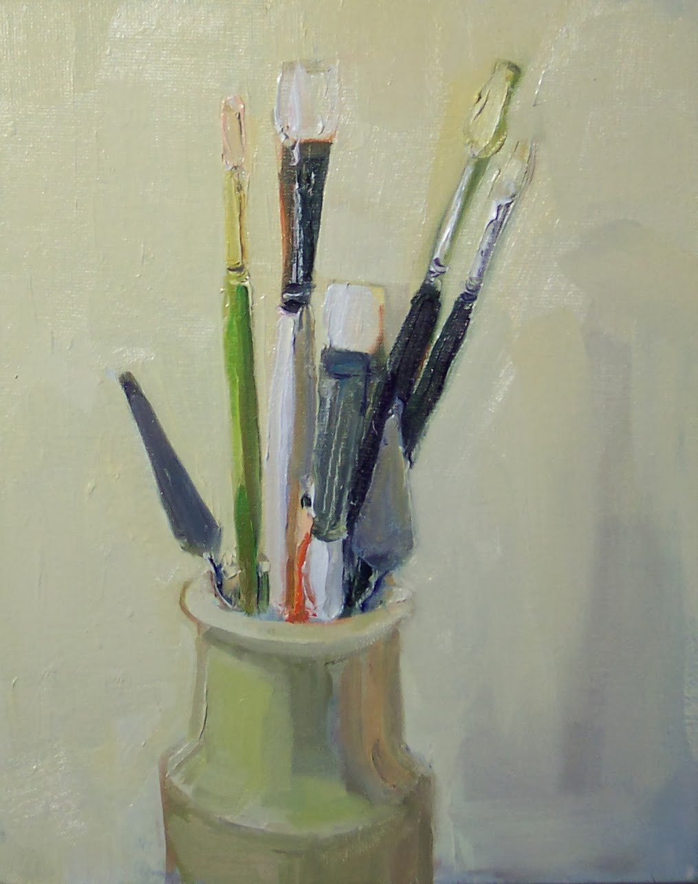 Art every day joy 39 s art supplies still life oil on for Canvas painting supplies