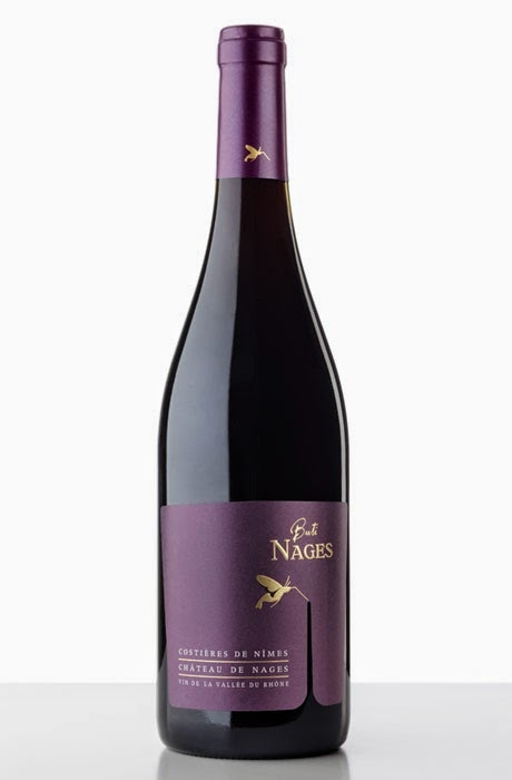 bottiglia packaging nettare rosso colibrì design wine francia france sud originale fustella