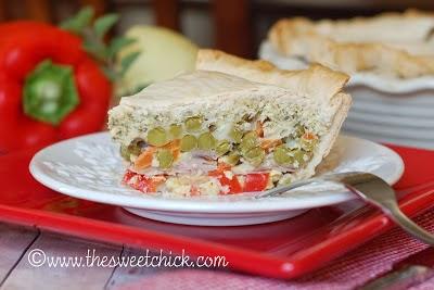 Savory Pie @www.thesweetchick.com