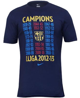 Campions Lliga 2012-2013 BarÇa Samarreta