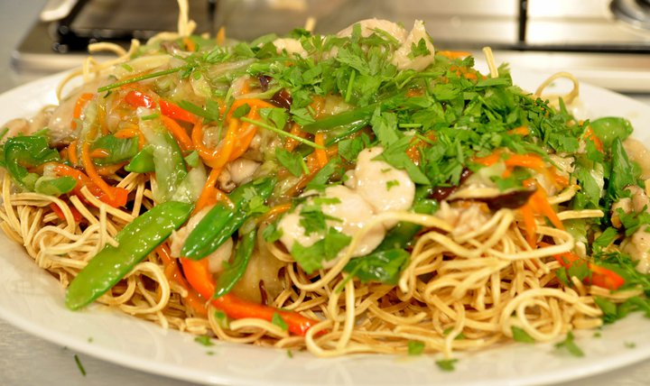 Crispy Chicken Chow Mein Recipe
