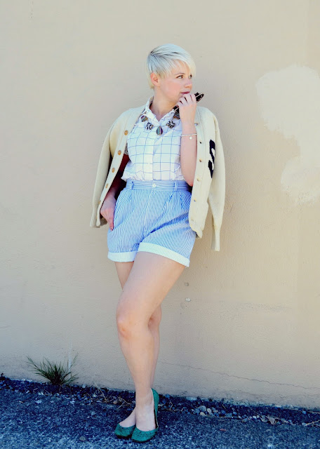 seattle, preppy, lifestyle, summer fashion, vintage, blonde, in style, high waisted, pastels