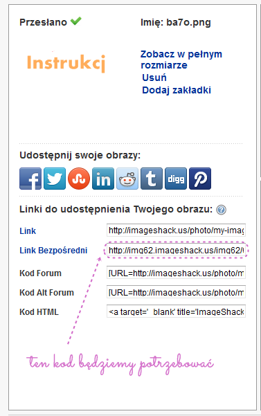 graficzne menu w bloggerze Imageshack