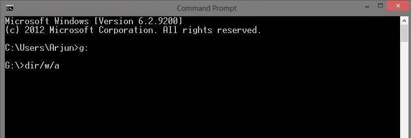 how to show hidden files in windows 7 using cmd