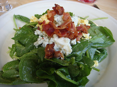 Spinach salad at Simon Pearce, Quechee, Vermont