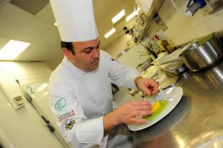 l'attore gian marco tognazzi e lo chef fabio campoli alla biennale del gusto (venezia)