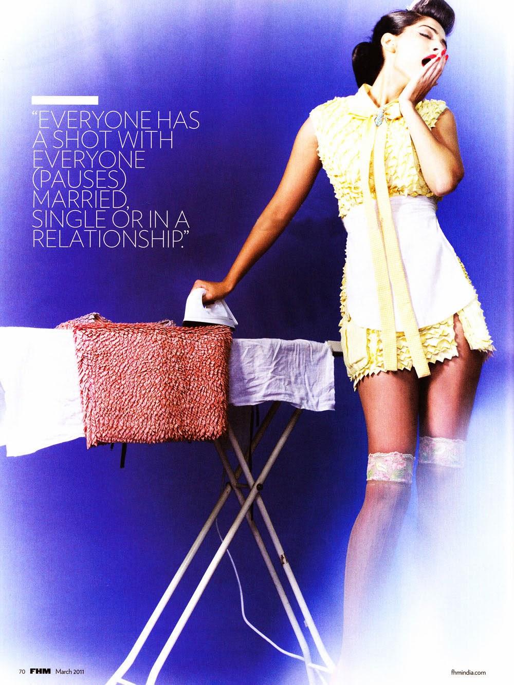 Sonam Kapoor as maid