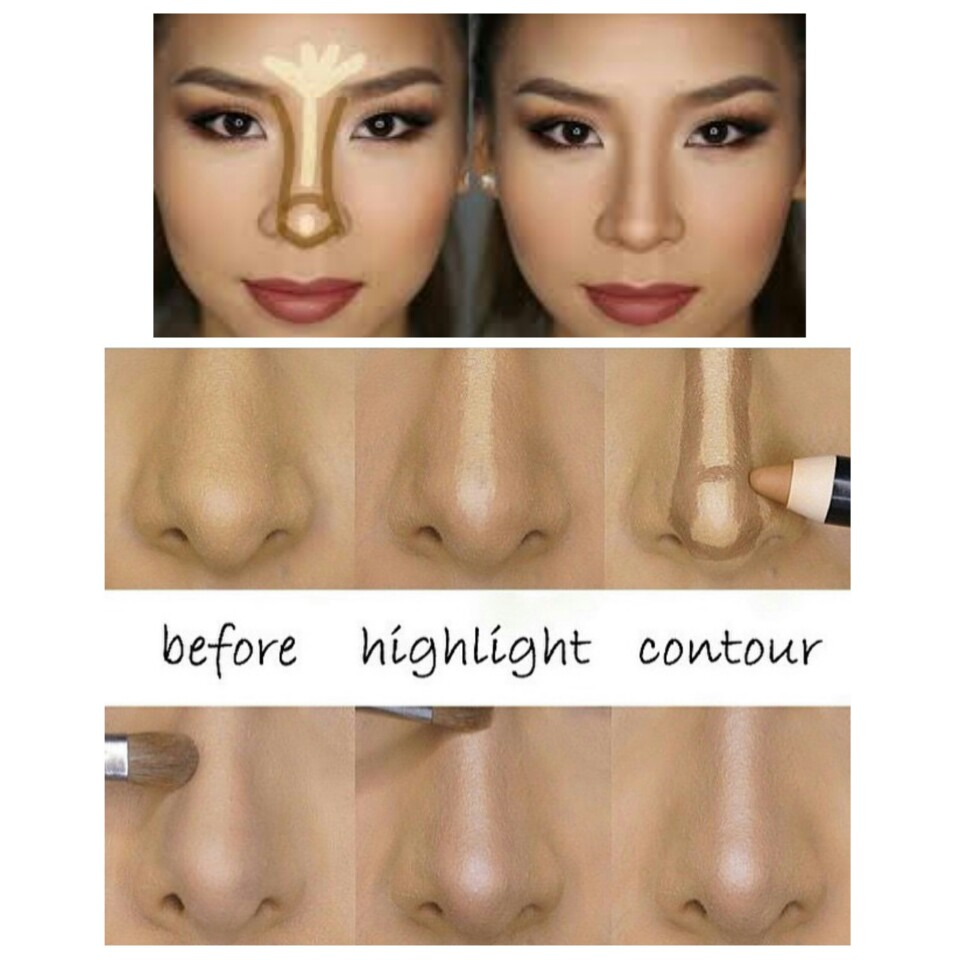 A Tall, Slim Nose In Only 3 Minutes With Makeup!