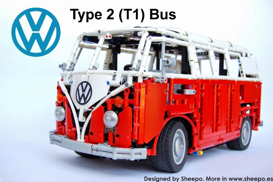 sheepo 39 s lego technic custom volkswagen t1 bus 39 65 manual. Black Bedroom Furniture Sets. Home Design Ideas