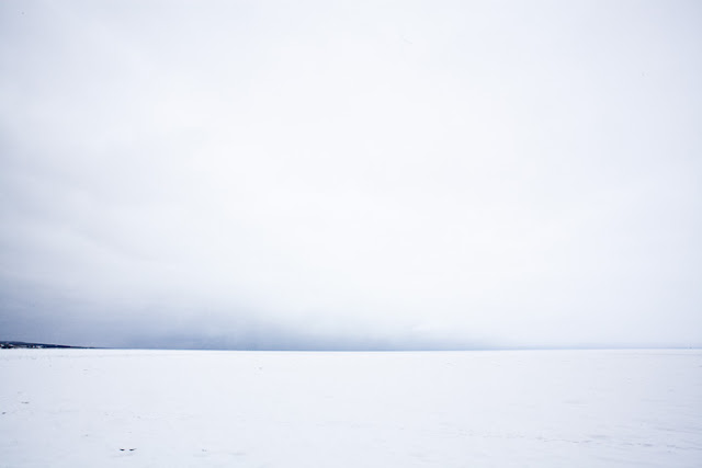 snow covered Lake Superior in Duluth, Minnesota photography by Marlon Krieger