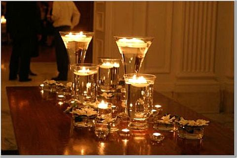 wedding candle centrepieces