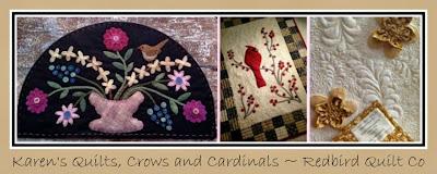 Karen's Quilts, Crows and Cardinals