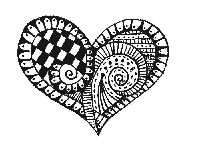 artyful: Heart Zentangle