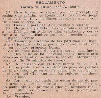Reglamento del Torneo de Ajedrez de Altura José O. Badía (1)