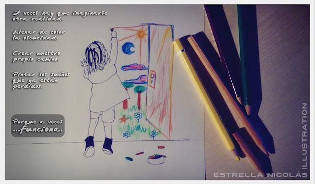 dreams, colour, sueños, color, niña, dibujo, girl, draw, drawing