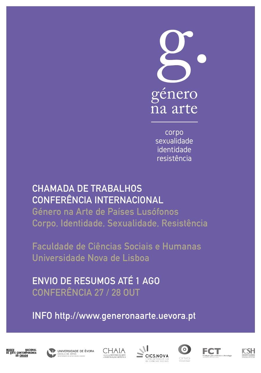 Conferências - Género e Arte - Outubro 2017