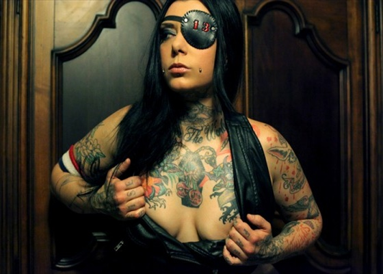 hot girl pirate tattoo