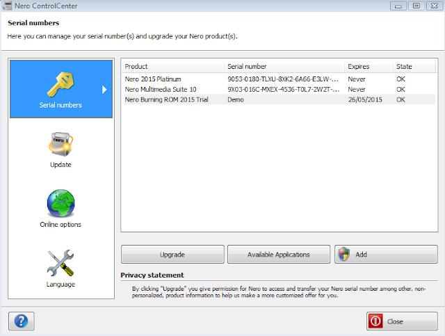 nero express free download trial version