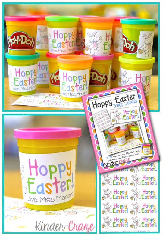 "FREE ""Hoppy Easter"" labels - adorable!"