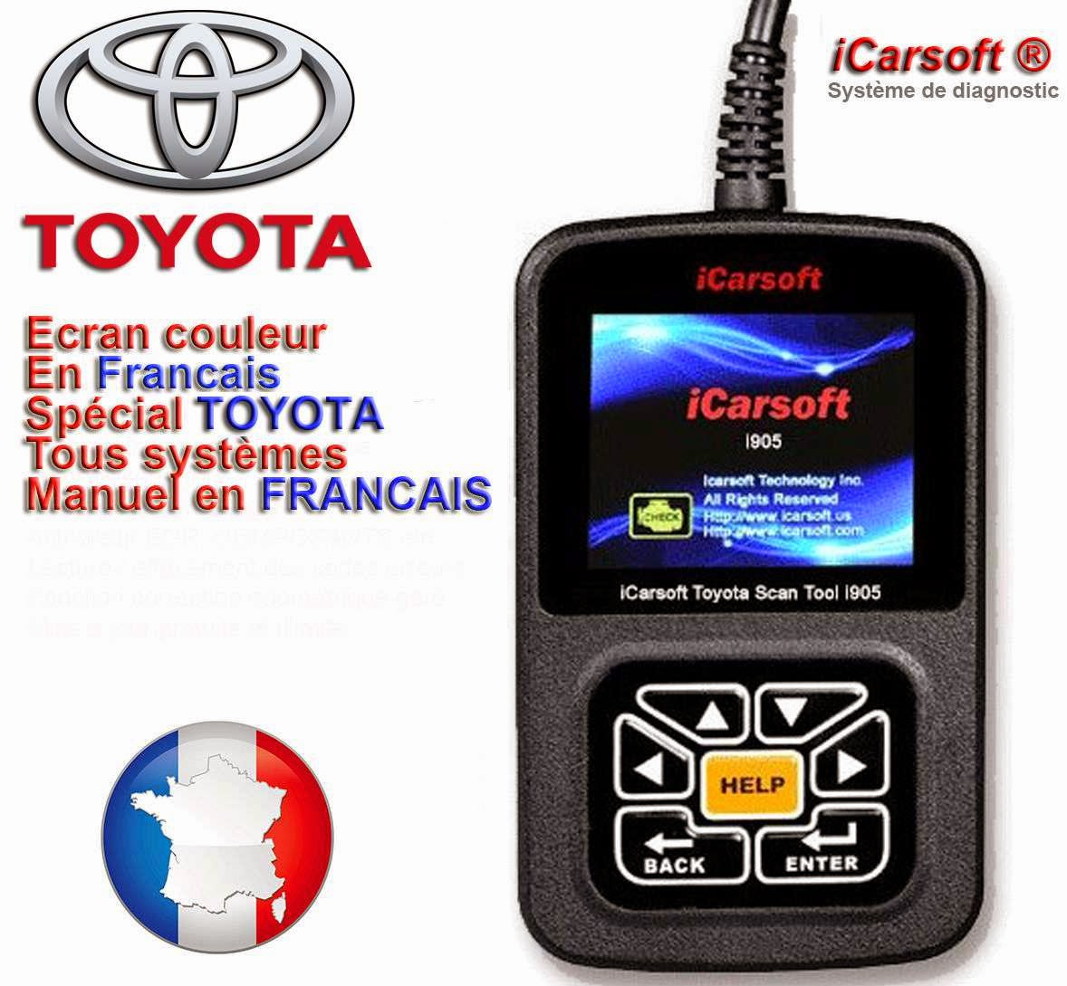 diagnostic toyota icarsoft i905 manuel en fran ais valise diagnostic autel launch. Black Bedroom Furniture Sets. Home Design Ideas