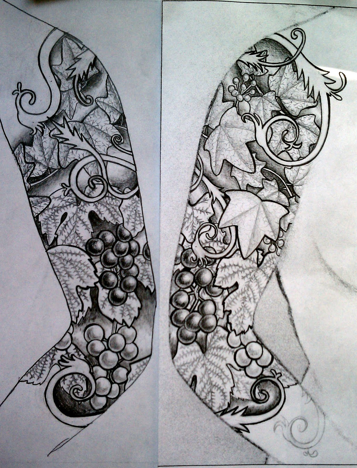 Half Sleeve Tattoo Design Template Half-sleeve-tattoo-designs-for
