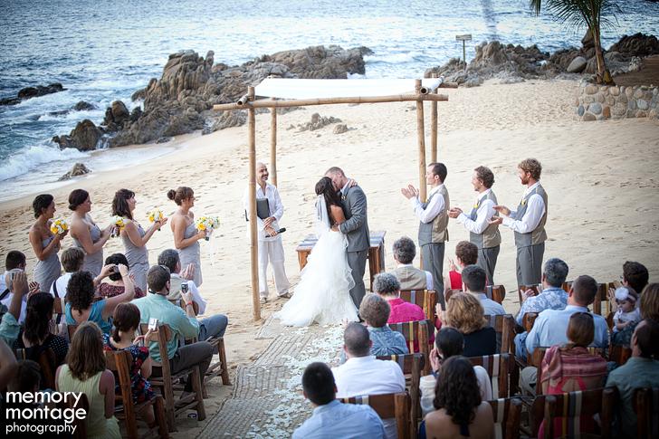 Las Caletas Puerto Vallarta Mexico Destination wedding photo ceremony beach